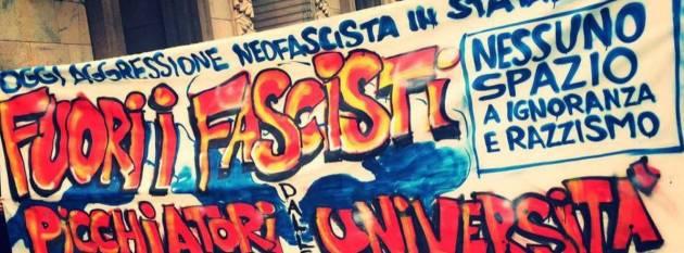 [DallaRete] Fuori gli squadristi dalle università, Statale libera da fascisti e razzisti!