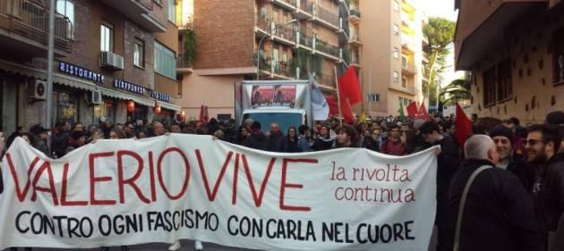 [Dalla Rete] Valerio Vive! 3000 in corteo contro ogni fascismo e razzismo