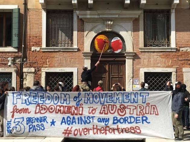 [DallaRete] A Venezia e Milano sanzionati i consolati d'Austria – Verso il 3 Aprile al Brennero