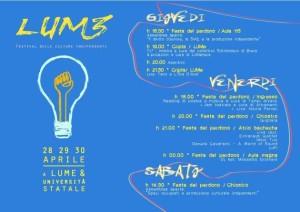 Festa in Università Statale 29 Aprile – by LUMe @ Università Statale