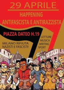 29 Aprile 2016, Milano è antifascista e antirazzista @ Milano