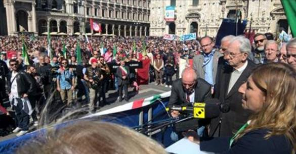 """[DallaRete] Milano, 25 Aprile – """"Tutto possiamo permetterci oggi tranne che il silenzio"""""""