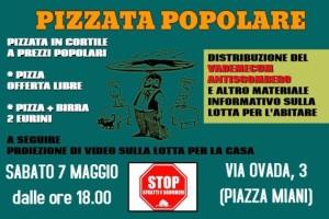 Pizzata Popolare @Via Ovada 3 - Sabato 7 Maggio @ Milano