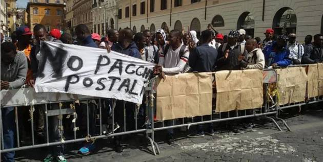 [DallaRete] La protesta dei ragazzi del CARA di Castelnuovo di Porto: siamo uomini, non pacchi