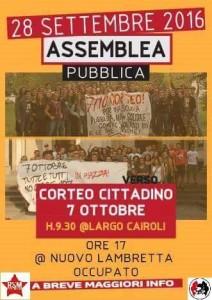 Assemblea cittadina verso il 7 Ottobre! @ CSOA Lambretta @ Csoa Lambretta