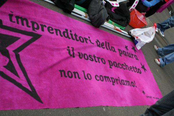 Definitive le condanne per il corteo della Festa della Donna 2009
