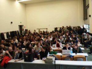 Assemblea alla Statale di Milano per il NO al referendum costituzionale
