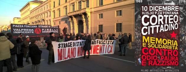 Manifestazione: Piazza Fontana strage di Stato