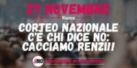 La conferenza stampa in vista del corteo del 27 Novembre a Roma per il NO al referendum