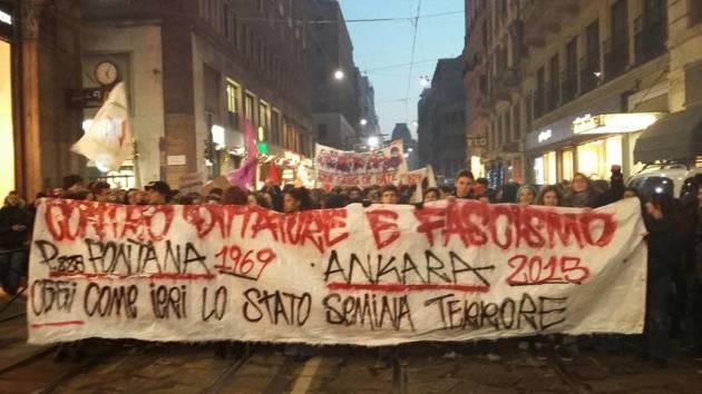 Milano – Il corteo per Piazza Fontana