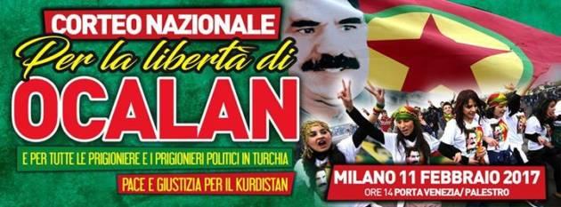 Corteo Nazionale a Milano per la Libertà di Öcalan – Oggi, ore 14, Palestro