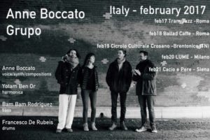 "VoLUMe // ""Anne Boccato Grupo"" International 4et @ Lume"