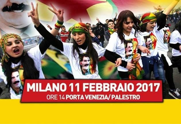 [DallaRete] Dalla parte del popolo curdo – Milano 11 Febbraio corteo nazionale per la liberazione di Ocalan