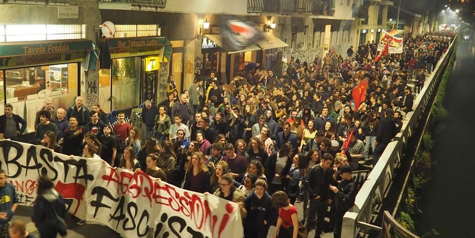 La Milano antifascista scende in piazza