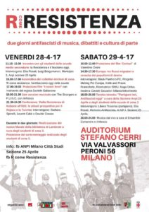 "R come Resistenza - una due giorni antifascista in Zona 3 @ Auditorium ""Stefano Cerri"" e Biblioteca di Lambrate"