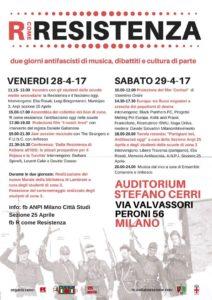 """R come Resistenza - due giorni @ Auditorium Biblioteca di Lambrate @ Auditorium """"Stefano Cerri"""""""