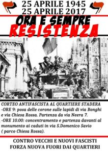 Corteo del 25 Aprile - Stadera/Gratosoglio @ Milano