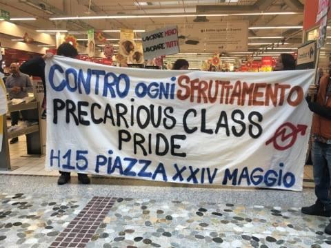 #Mayday2017 – Blocco al Carrefour di Assago-Milanofiori