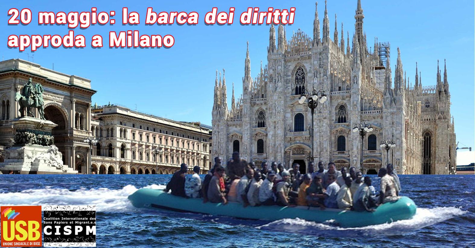 Migranti: una barca dei diritti approda sabato 20 Maggio a Milano