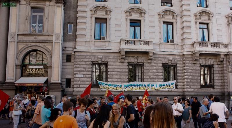"""Comunicato dal presidio """"Residenza per tutt* in una Milano antifascista e antirazzista"""""""