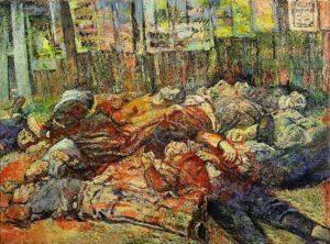 """I martiri di Piazzale Loreto"" - Aligi Sassu, 1944, olio su tela"