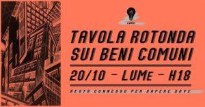 Tavola rotonda sui Beni Comuni @ Milano