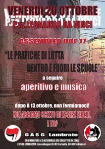 """20/10_""""Le pratiche di lotta dentro e fuori le scuole"""" @ Milano"""