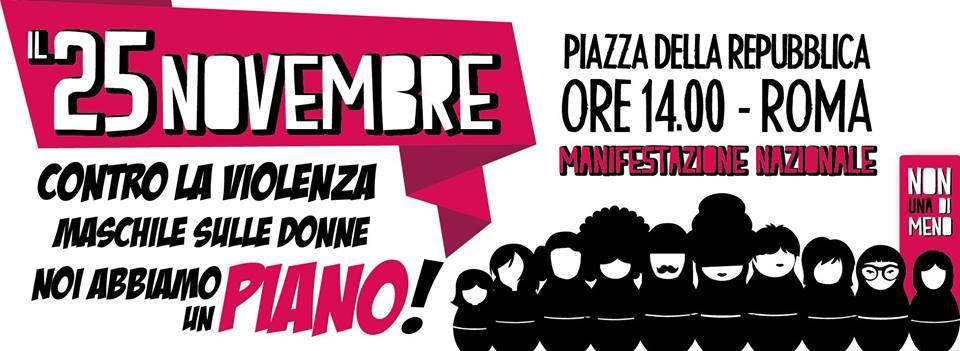 Non Una Di Meno – Manifestazione Nazionale a Roma: Abbiamo un Piano!