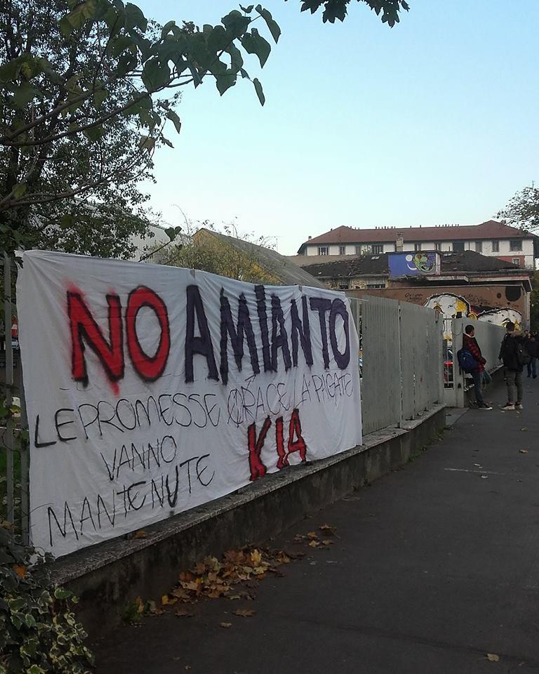 Gli studenti dell'Agnesi si mobilitano contro l'amianto dell'ex-Galvanica Lorenzi