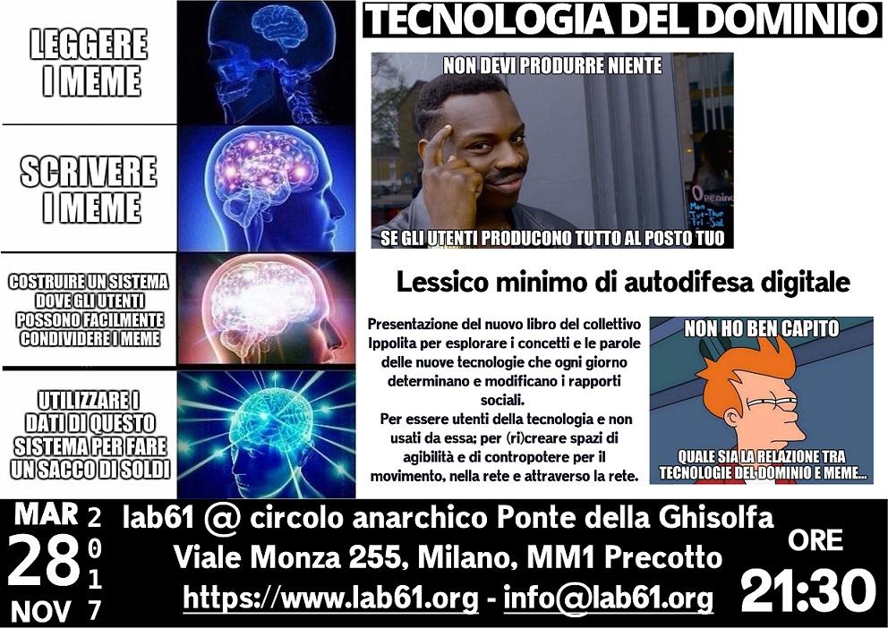 Presentazione del nuovo libro di Ippolita @ lab61@Ponte della Ghisolfa @ Lab61 @ Ponte della Ghisolfa