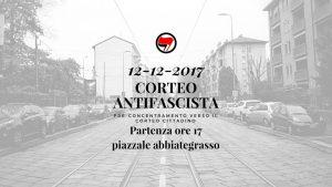 12 Dicembre - Corteo antifascista_pre-concentramento mi-sud @ Milano