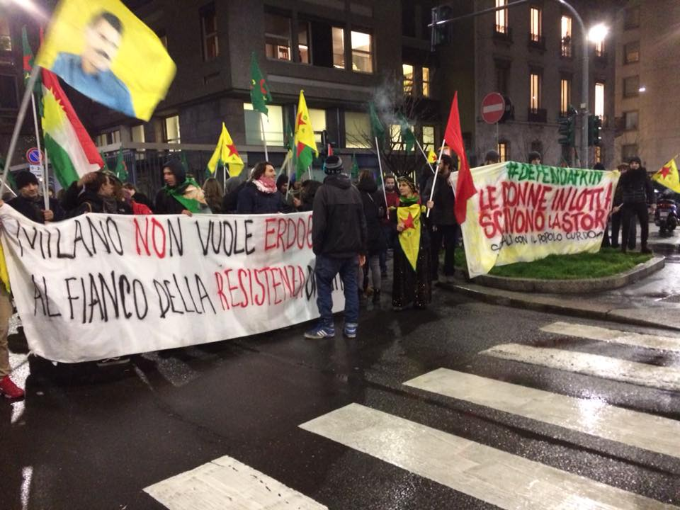Solidarietà ad Afrin in tutta Italia #ErdoganNotWelcome!