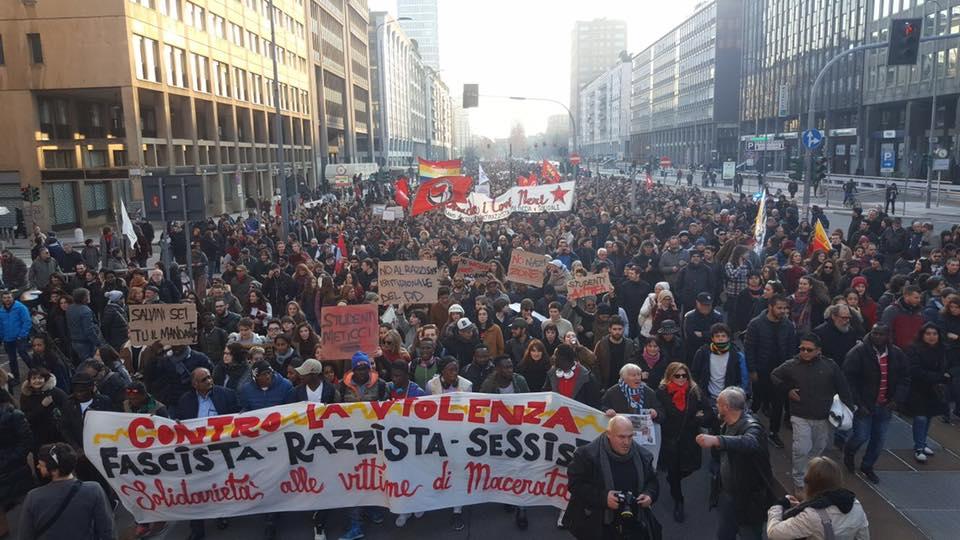 30.000 antirazzisti in marcia – La Milano degna si riprende le strade