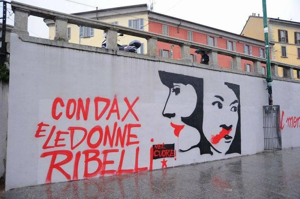 Spugnettari alla riscossa! – Cancellato il murales per Dax e per le donne ribelli in Darsena
