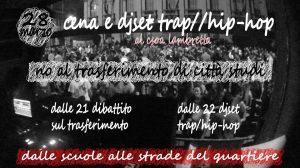 Cena e djset trap hiphop - No al trasferimento di Città Studi @ Csoa Lambretta
