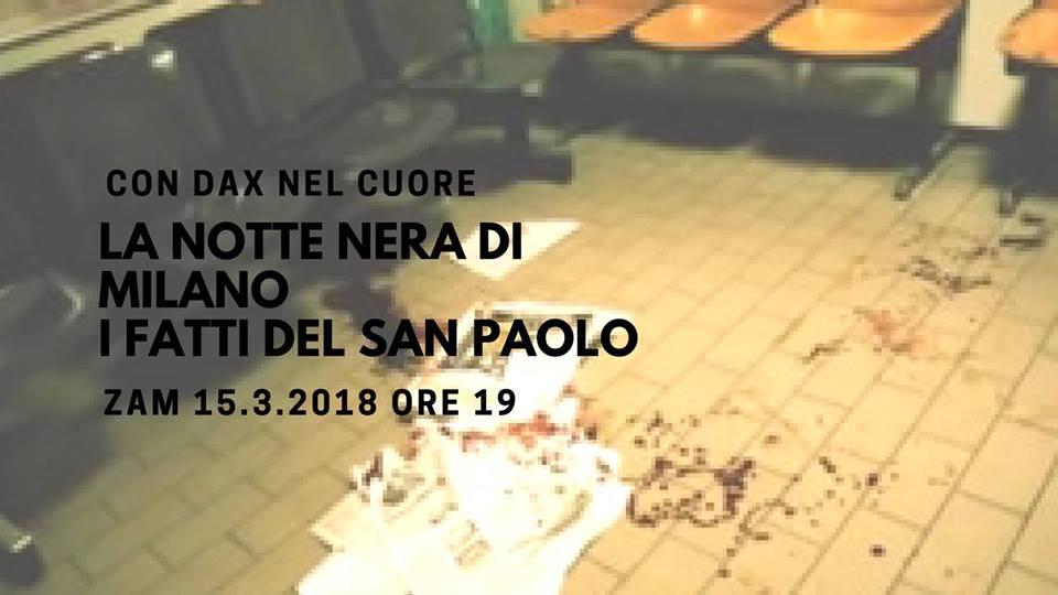 La notte nera di Milano, i fatti del San Paolo @ ZAM