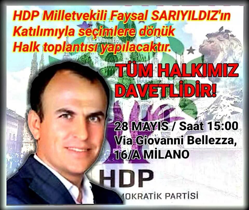 Intervista a Faysal Sarıyıldız, Deputato HDP
