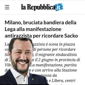 Repubblica e Salvini: l'inizio di una luna di miele