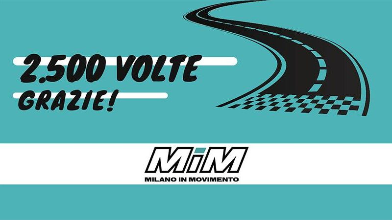 MilanoInMovimento – 2.500 volte grazie!