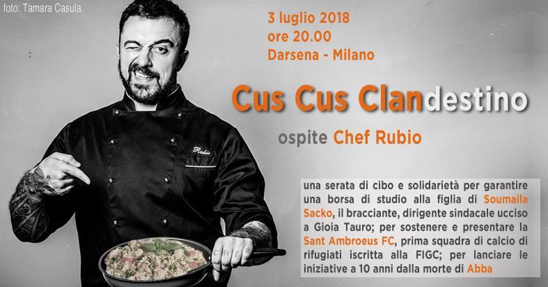 Cus Cus Clan(destino) con Chef Rubio – 3 Luglio @ Darsena
