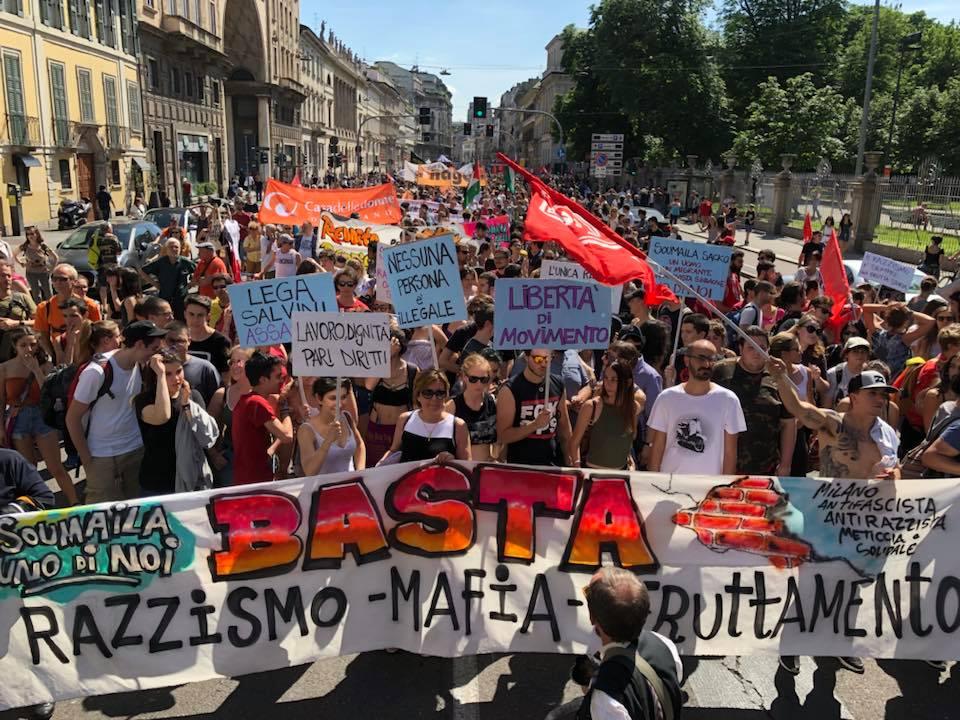 Milano – Migliaia in piazza per Soumaila Sacko