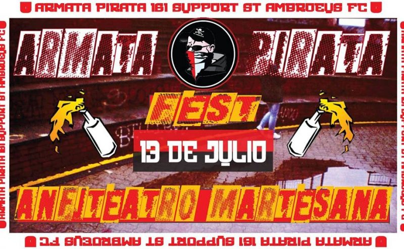 Serata Benefit Armata Pirata 161 – 13 Luglio @ Largo Marinai d'Italia