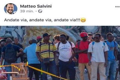 Matteo Salvini denunciato perodio razziale – Vai via!