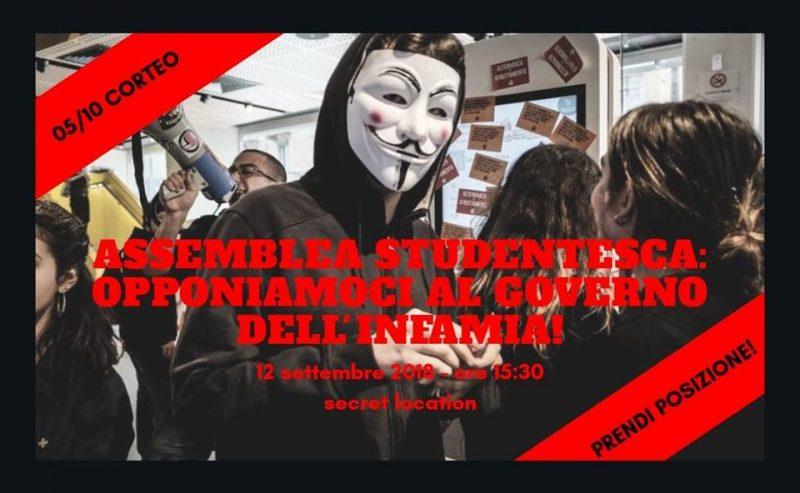 Assemblea studentesca verso il #5OTT