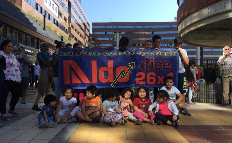 """Prime vittime della """"circolare Salvini"""" – Sgomberato """"Aldo dice 26×1"""" e famiglie buttate in strada senza soluzioni"""