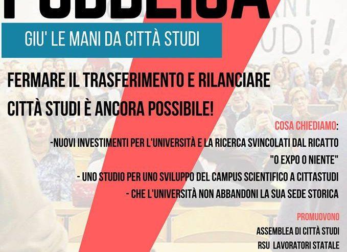 27.09 – Assemblea Pubblica – Rilanciamo Città Studi! @ Piazza Leonardo Da Vinci