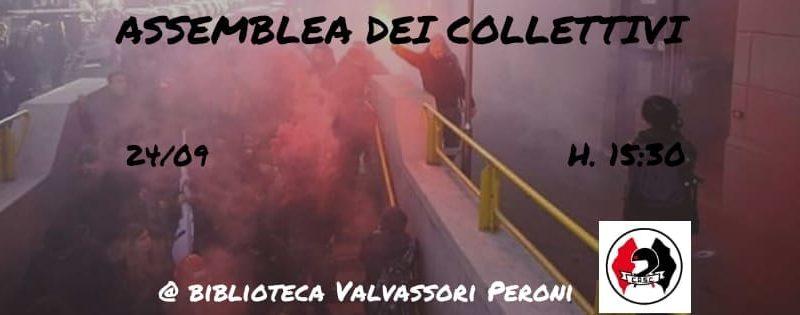 Assemblea dei Collettivi verso il corteo del #5OTT – 24 Settembre @ Biblioteca Valvassori Peroni