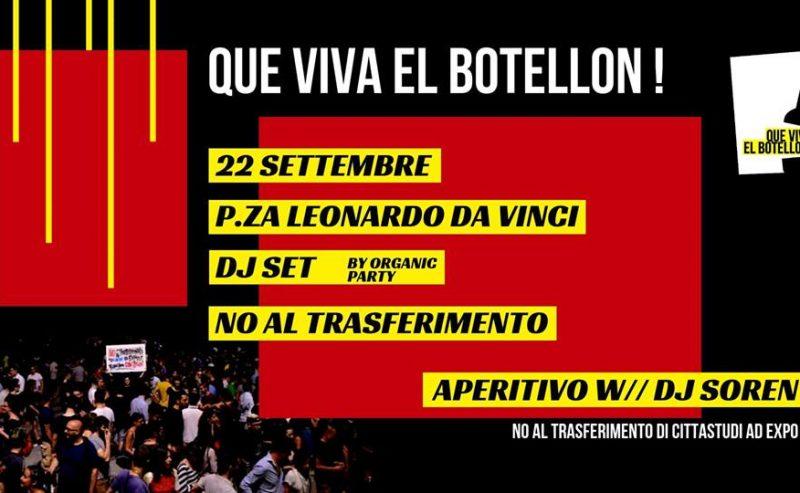 22.09 – Que viva el Botellon! – P.za Leonardo Da Vinci