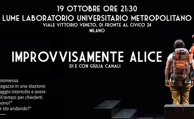 Improvvisamente Alice// LUMe Teatro – 19 Ottobre @ LUMe