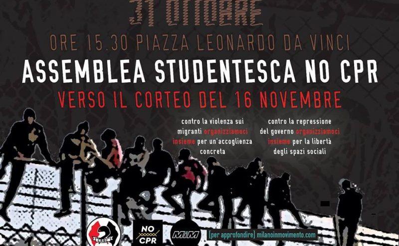 31OTT Assemblea studentesca NO CPR @ Piazza Leonardo Da Vinci